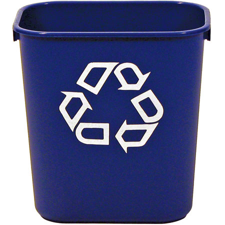 FG295573BLUE SMALL WASTE BASKET, BLUE 11 3/8 X 8 1/4 X 12 1/8