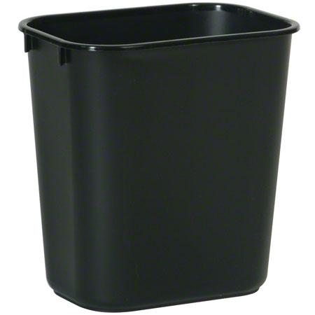 2955 SMALL WASTE BASKET BLACK 11 3/8 X 8 1/4 X 12 1/8