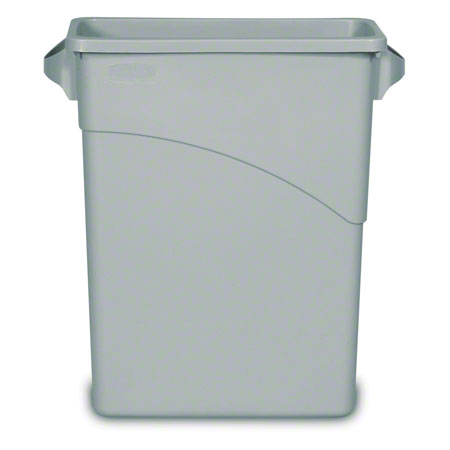 3541 WASTE CONTAINER SLIM JIM 24-1/8″ H 11″ W X 23-1/8 L GREY 15-1/4 GAL
