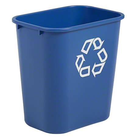 2956-73 BLUE WASTE BASKET, MED 14 3/8 X 10 1/4 X 15