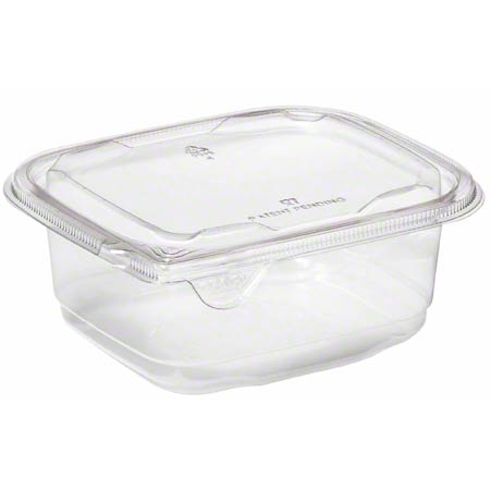 15616TR SABERT CLEAR SMALL 16oz RECTANGLE CONTAINER 504/CS