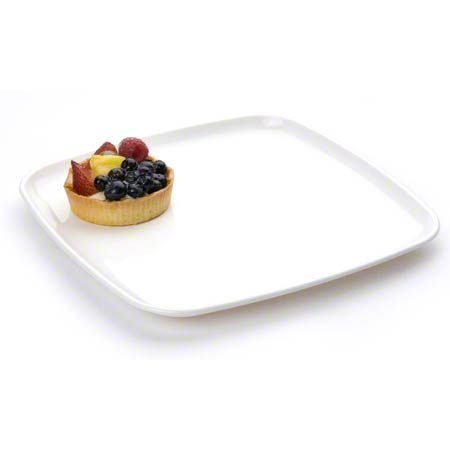 "2311 WHITE MOZAIK 10.7"" SQUARE PLATTER 25/CASE"