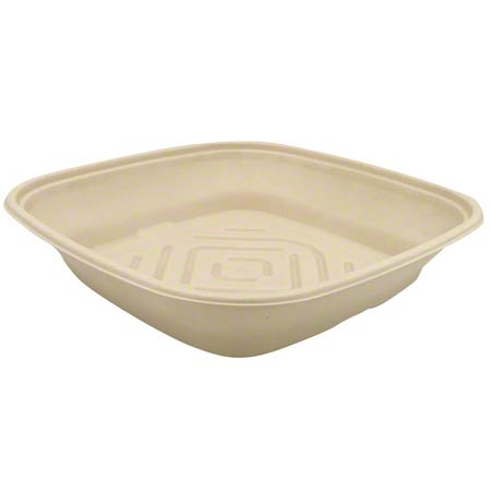 42141600D25 PULP 160oz SQUARE CATERING BOWL 25/CS