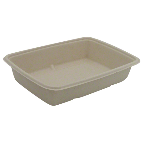 46130F300N 30oz MEDIUM RECTANGLE PULP CONTAINER 300/CASE