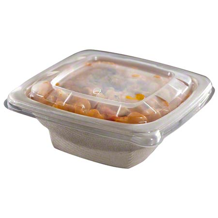 49032F300N 32oz SQUARE BOWL NATURAL MOLDED PULP 300/CASE