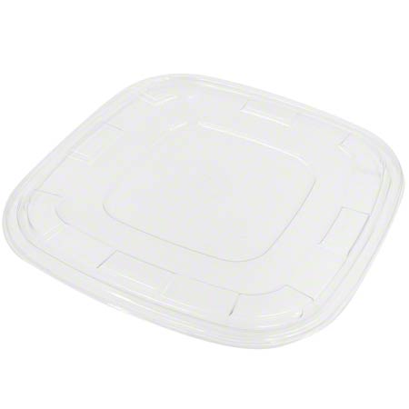 512240F025 CLEAR LID FOR 160/240oz SQUARE BOWL 25/CS