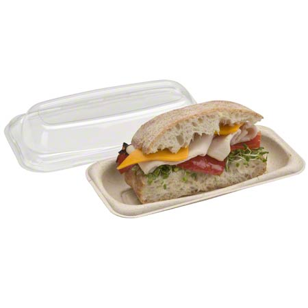 520408D300 SABERT CLEAR LID FOR PULP SMALL SUB CONTAINER 300/CASE