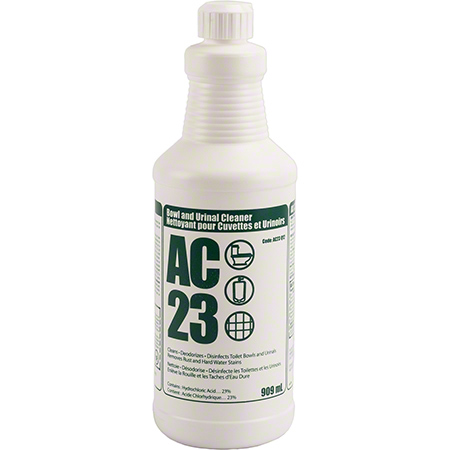 AC-23 BOWL & URINAL CLNR 23% HCL 12 X 909ML/CASE
