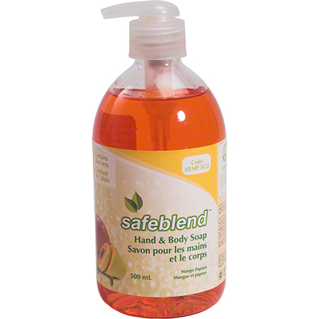 HLMP-5CD SAFEBLEND HAND & BODY SOAP MANGO PAPAYA (CFIA) 12X500ML/CS
