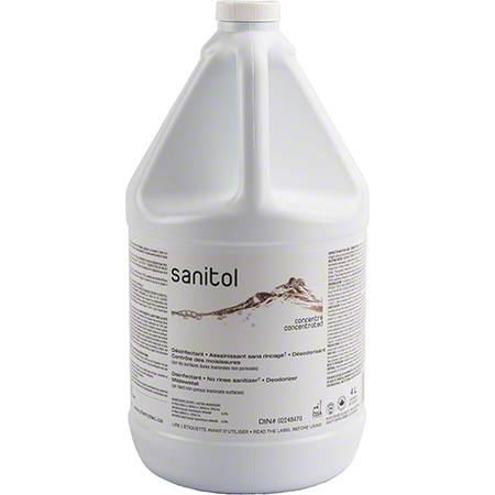 SANI-G04 SAFEBLEND SANITOL DISINFECTANT & NO RINSE SANITIZER, 4X4L/CASE