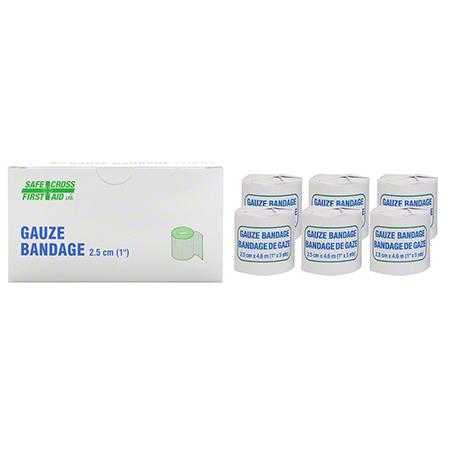 02102 GAUZE BANDAGE ROLL 2.5CM X 4.6M 6 ROLLS/BOX