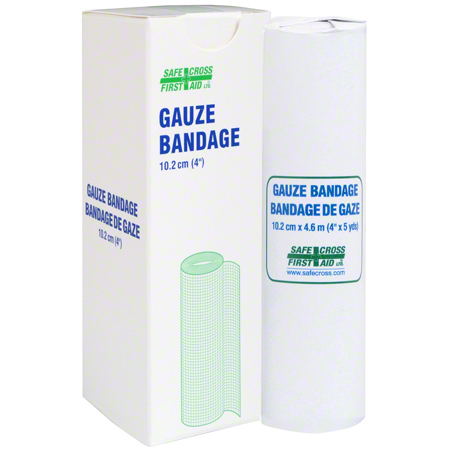 02194 GAUZE BANDAGE ROLL 10.2CM (4″) X 4.6M 1/UNIT BOX