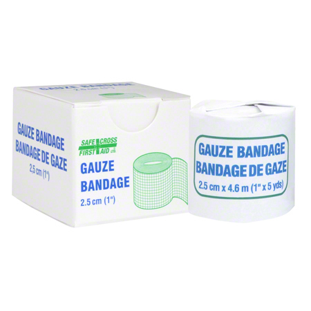 02251 GAUZE BANDAGE ROLL 2.5CM (1″) X 4.6M 1/UNIT BOX