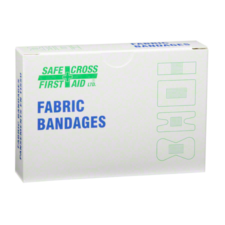 03003 FABRIC BANDAGES, ASSORTED SIZES, HEAVYWEIGHT, 12/BX