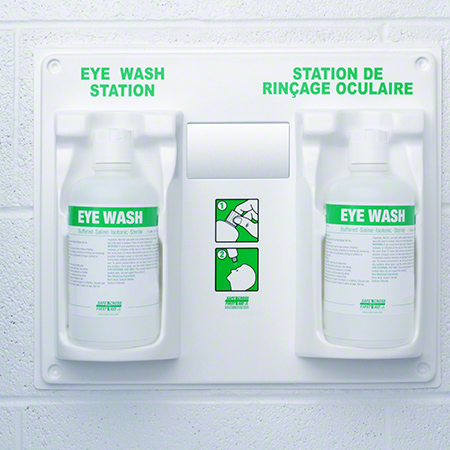 04067 FIRST AID EYE WASH DOUBLE STATION W/2X1LT SOLUTION