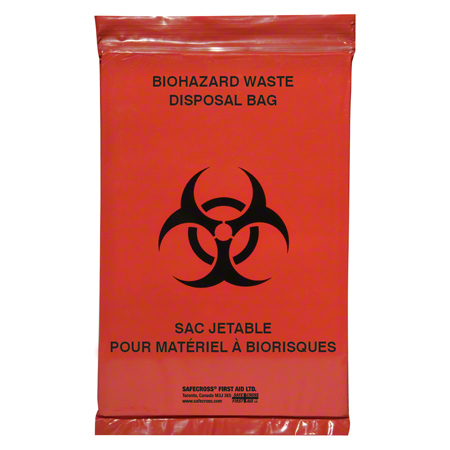 14363 BIOHAZARD TRANSPORT BAGS 6″X9″ 100/PK