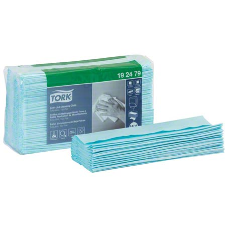 192479 TORK LOW LINT CLEANING CLOTH, TOP PACK TURQUOISE 5 PKS X 100/CS