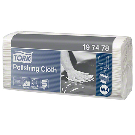 197478 TORK POLISHING CLOTH, TOP PAK, 1 PLY WHITE 5 X 125