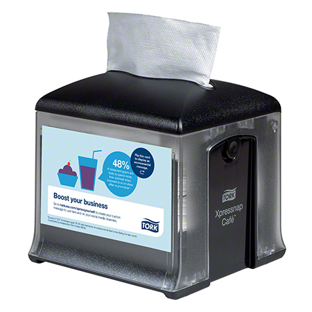 32XRT XPRESSNAP CAFE NAPKIN DISPENSER - BLACK