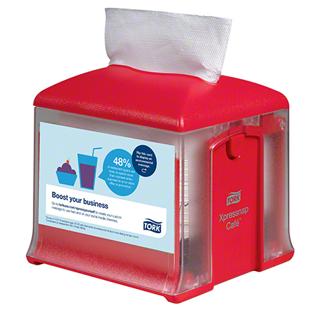 41XRT XPRESSNAP CAFE NAPKIN DISPENSER - RED
