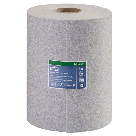 520337 - 1-PLY TORK PREMIUM GREY MULTI PURPOSE CLOTH CENTERFEED 500/RL