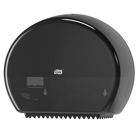 555028A TORK MINI BATH TISSUE DISPENSER BLACK WITH RESERVE T2
