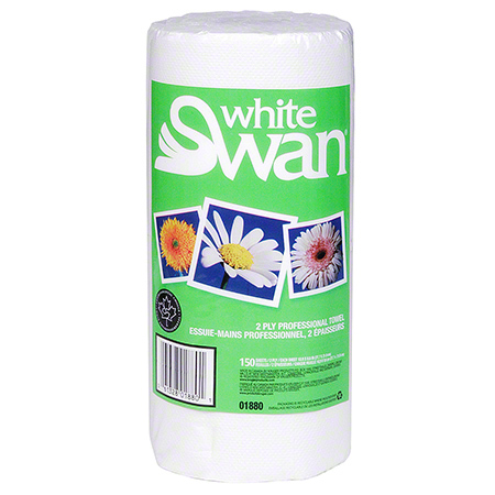 01880 WHITE SWAN HOUSEHOLD TOWELS 2PLY 150 SHEETS 24/CASE