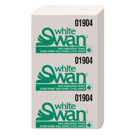 01900 WHITE SWAN SINGLEFOLD TOWELS - WHITE 16 X 250/CS