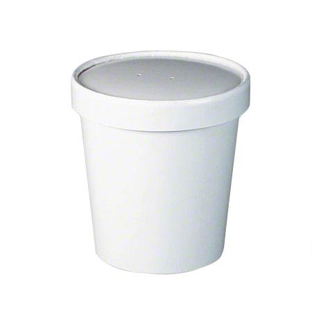 KH16A-WHITE PAPER SOUP CONTAINER 16oz SOLO COMBO 250/CS