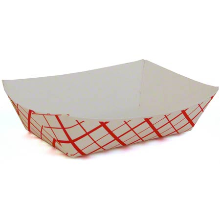 SCT200 FOOD TRAY 2LB RED PLAID 0417 1000/CASE