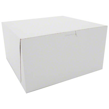 "CAKE BOX WHITE 10"" X 10"" X 5"" 100/BUNDLE"