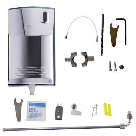 500409 AUTO CLEAN URINAL DISP. CHROME INCLUDES 3/4""