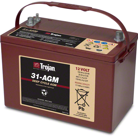 MAGNA 31 AGM (KARCHER # 9.512-776.0) 115 AMP BATTERY
