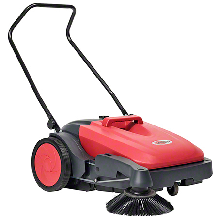 "PS480 VIPER 28"" MANUAL PUSH SWEEPER W/RIGHT SIDE BROOM & 10GAL HOPPER"