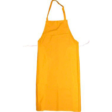"Apron PVC Yellow 35"" X 45"" 0.35mm Thick"