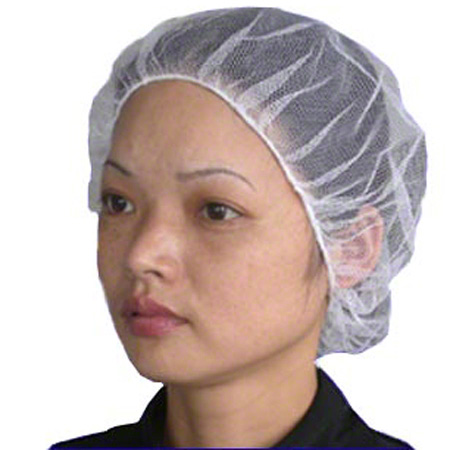 27I-3000(XL) 24″ POLYESTER MESH HAIRNETS WHITE 1M/CS