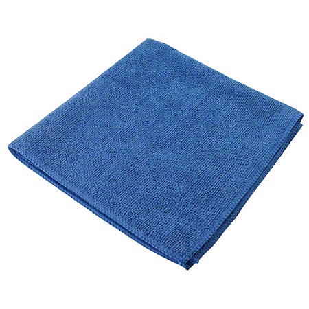 "1570-S BL BLUE 14"" X 14"" MICROFIBRE CLOTH 10/PKG"