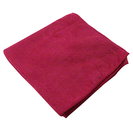 "1570-SRD RED 14"" X 14"" MICROFIBRE CLOTHS 10/PKG ( WI1570SRD)"
