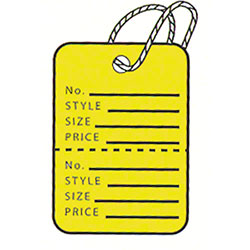 "American Tag Garment Tag - 1 1/4"" x 1 3/4"", Yellow"