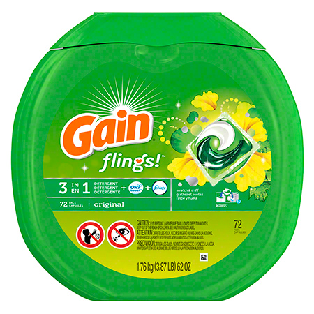 P&G Gain® Flings® Original Laundry Detergent - 72 ct.