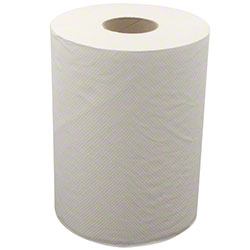 "Oasis White 1 Ply Hardwound Roll Towel - 8"" x 600'"