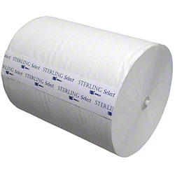 """SSS® Sterling Select™ 8"""" Hardwound Roll Towel - White"""