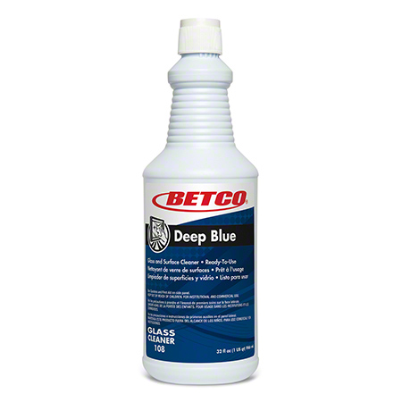 Betco® Deep Blue Glass & Surface Cleaner - Qt.