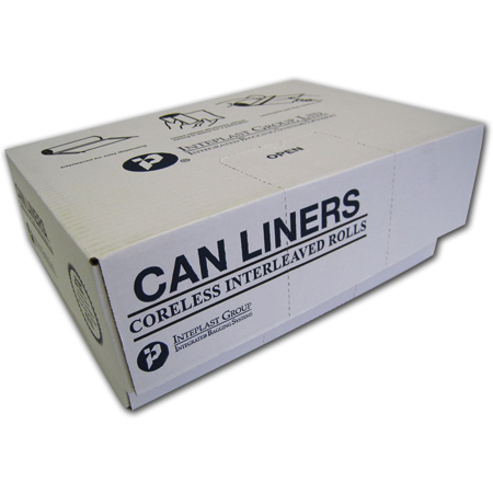 Inteplast Valu-Plus HDPE Can Liner - 38 x 58, Natural