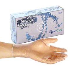 AmerCare® Anchor Vinyl Disposable Glove -Med.,Powdered