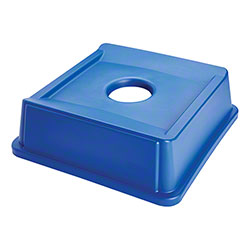 Rubbermaid® Untouchable® 35 Gal. Square Bottle & Can Recycling Lid - Blue