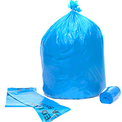 Colonial Bag Blue Recycling Liner - 38 x 58, 1.4 gauge