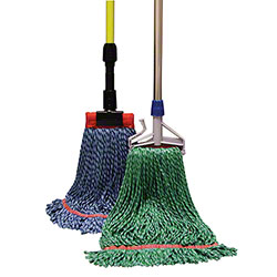 "Golden Star® Nova Microfiber String Mop - MD,1 1/4"", Blue"