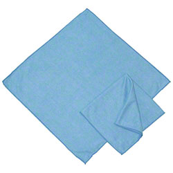 "Golden Star® Blue Microfiber Glass Cloth - 16"" x 16"""