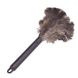 """Lambskin Retractable Feather Duster - 6"""" Plume, 15"""" Overall"""